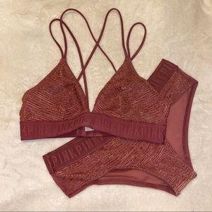 NWOT PINK underwear set
